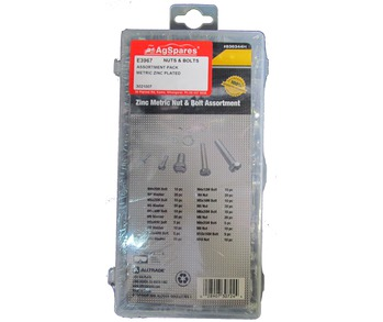 Nut & Bolt Assortment Pack Zinc Metric