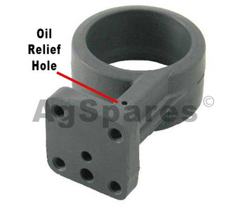 PTO support  - shoe type with hole