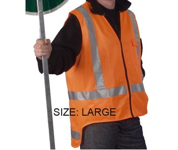 Hi Viz Vest T/A Orange Large