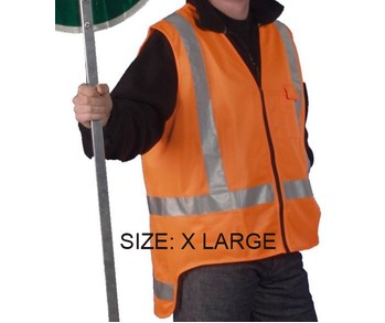 Hi Viz Vest T/A Orange Extra Large