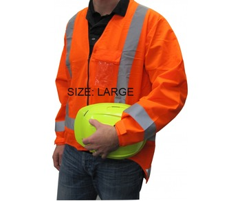Hi Viz Long Sleeve Vest T/A Large