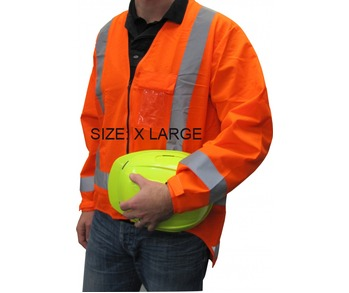 Hi Viz Long Sleeve Vest T/A Extra Large