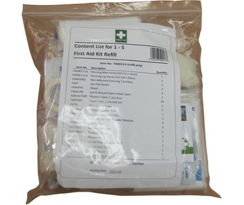 First Aid Kit - Refill 1-5 People