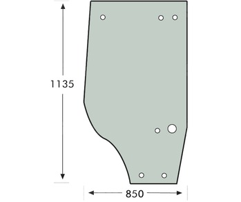 Door Glass RH Case 5120 to 5150 7 Hole