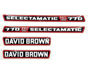 Decal Set  DB 770 Selecton