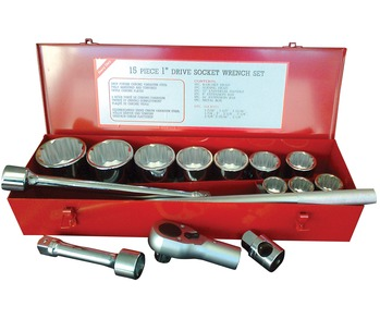 15 Pce Socket Set -1 Inch Dr Metric