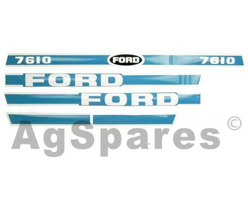 Decal Set Ford 7610 Less Cab