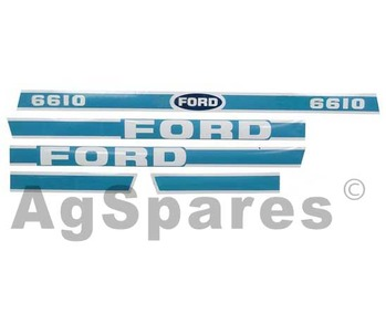 Decal Set Ford 6610 Less Cab