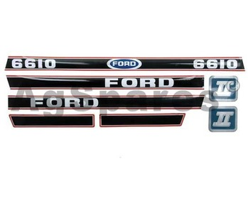 Decal Set Ford 6610 (Red/Black)