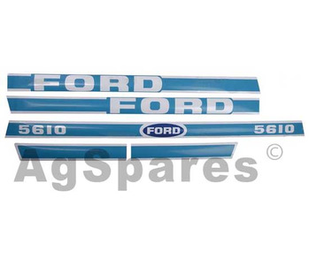 Decal Set Ford 5610 Less Cab
