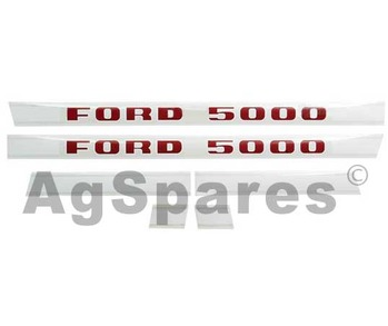 Decal Set Ford 5000 (5/68>)