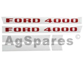 Decal Set Ford 4000 (5/68>)