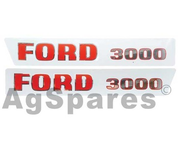Decal Set Ford 3000 (>68)
