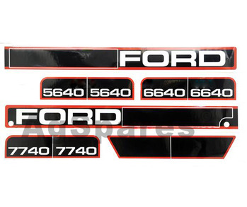 Decal Set - F5640,6640,7740 up to 10/95