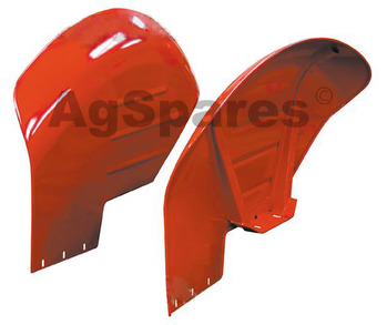 Mudguard Late MF135-240 Curved pair Stee