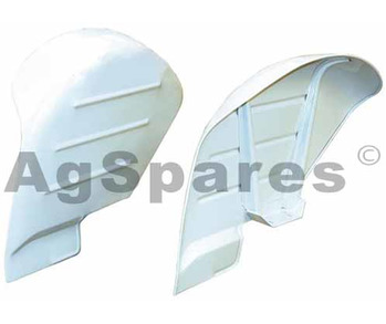 Mudguard Ford Curved Steel Pair