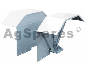 Mudguard Flat top Ford 5000 steel