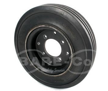400x8SOLID CUSHION TYRE+WHEEL