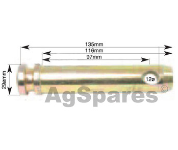Top Link Pin Cat 2 25 x 93mm DB