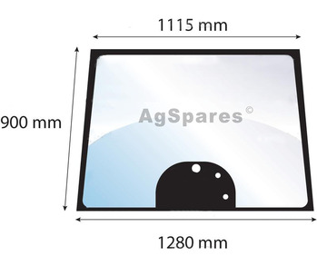 Windscreen MF 5,6,8000 Ser 3 Holes