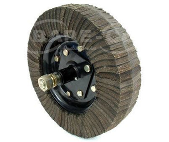 RUBBER WHEEL 400x100+HUB/AXLE