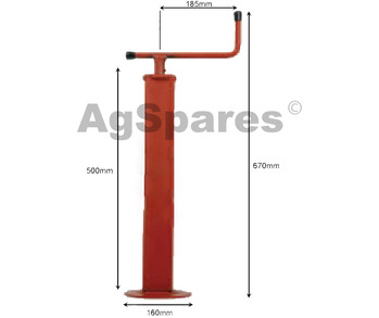 Trailer Jack - 1000 KG 70x70mm